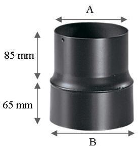 r duction simple paroi r f conduits de fum e tuyau simple paroi 180mm espace po le. Black Bedroom Furniture Sets. Home Design Ideas
