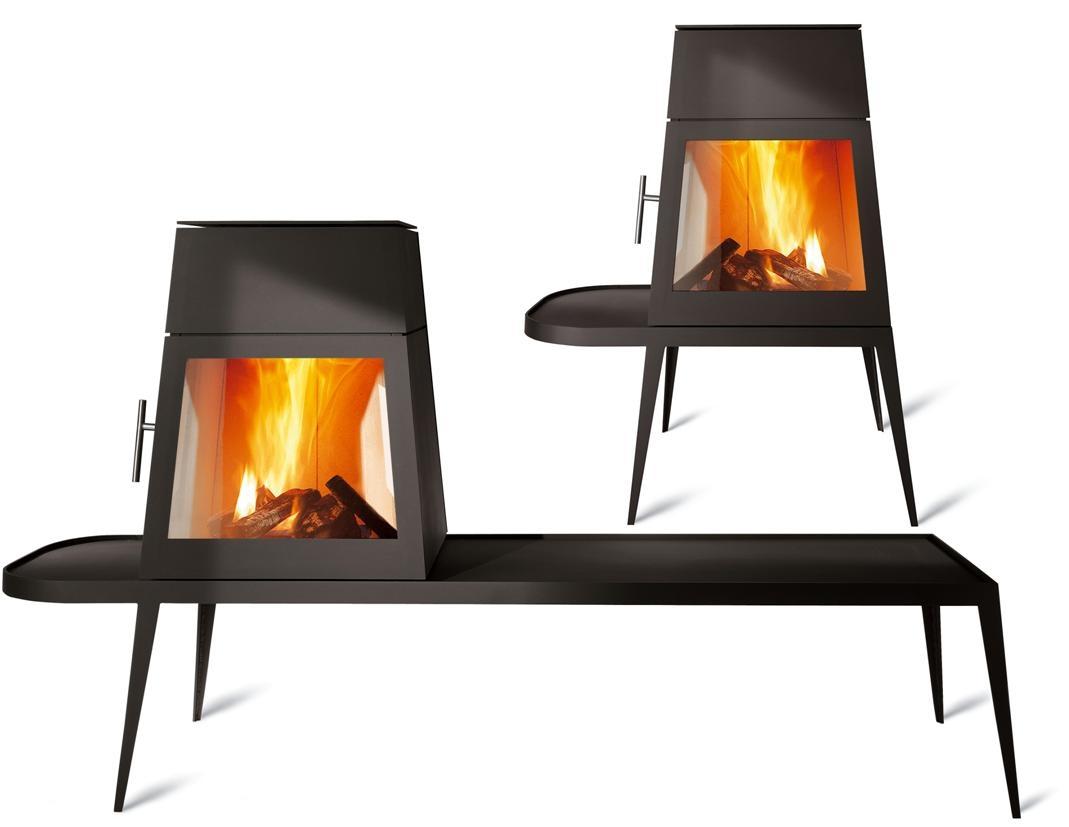 Shaker r f chauffage po les bois design espace po le scandinave - Poele a bois design suspendu ...