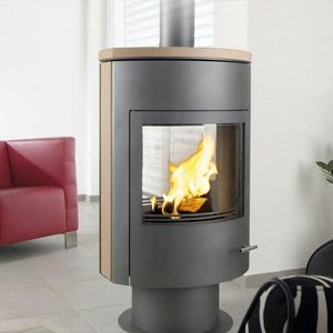 po le bois ganz rumba loft r f chauffage po les bois contemporain espace po le. Black Bedroom Furniture Sets. Home Design Ideas